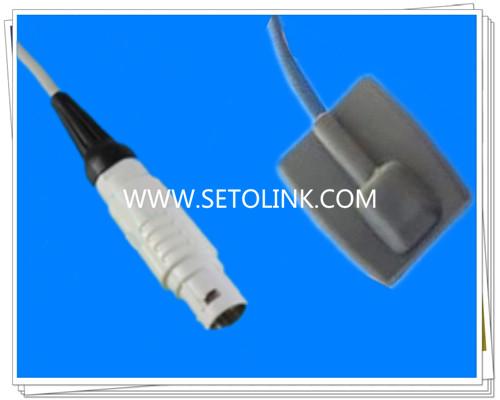 Draeger 8 Pin Pediatric Silicone Soft Tip SpO2 Sensor