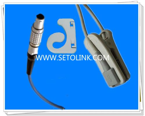 Invivo 7 Pin Adult Ear Clip SpO2 Sensor Nellcor Module
