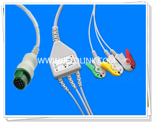 Bruker 12 Pin One Piece ECG Cable