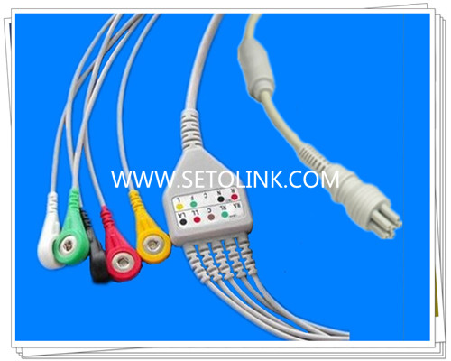 Colin 6 Pin One Piece ECG Cable Female