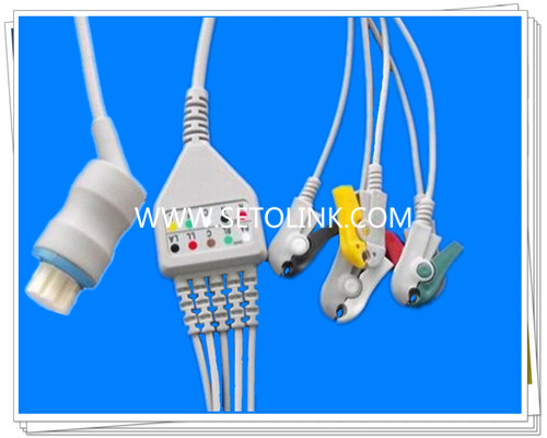 Datex Ohmeda 10 Pin One Piece ECG Cable