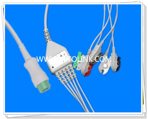 MB 6 Pin One Piece ECG Cable