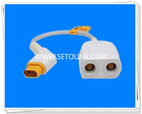 Siemens Draeger Dual IBP Conterter Cable,16 Pin to 8 Pin