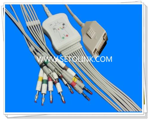 Fukuda Me One Piece ECG Cable 10 Leadwires