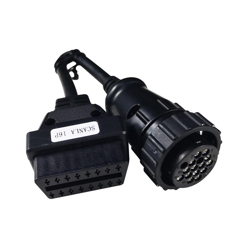 Auto Truck OBDI Cable for Scannia 16 Pin